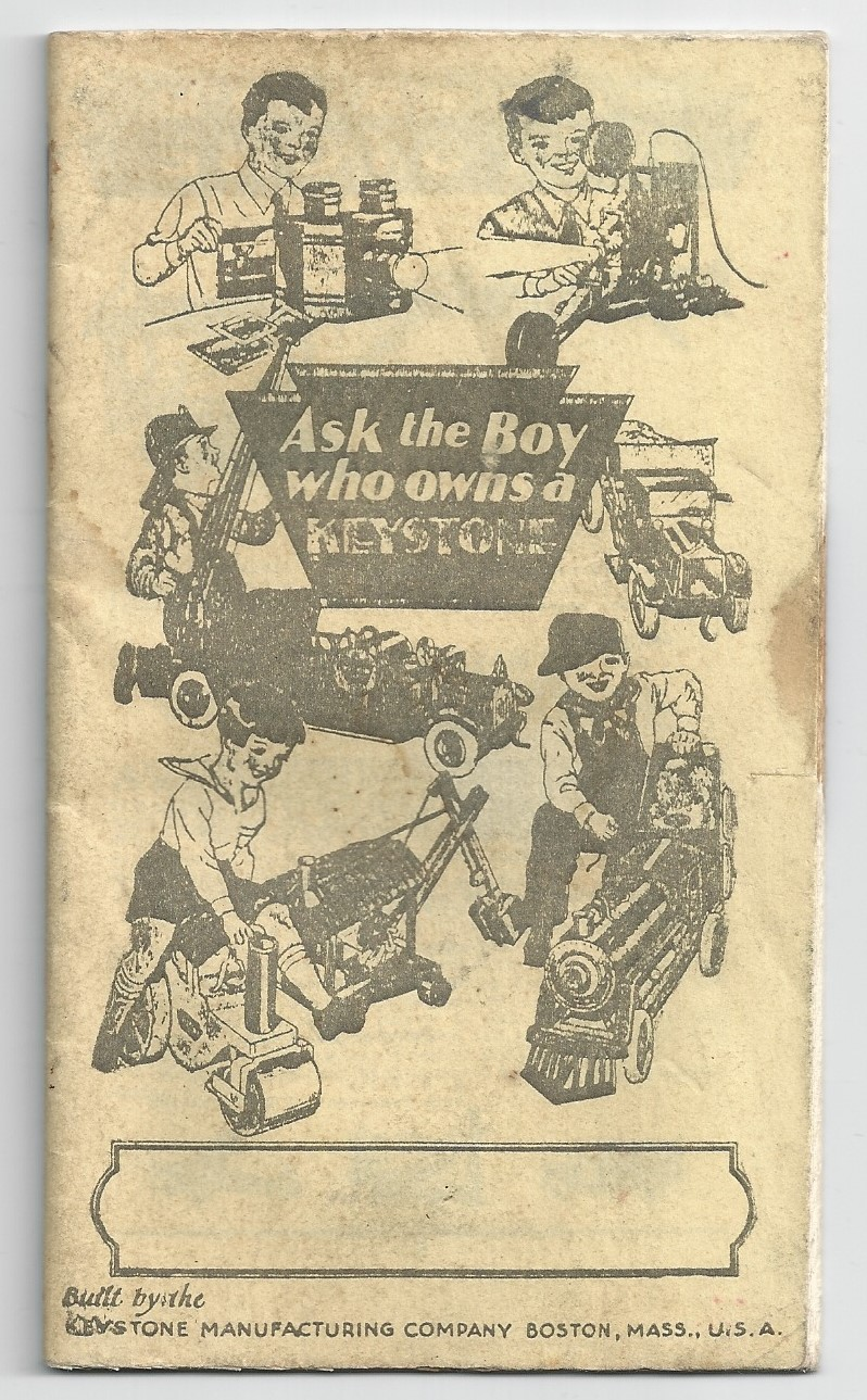 Keystone Manufacturing Catalog 1920's (non-colored