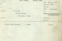 Invoice Jacrim June 26th 1931