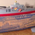 Keystone Action Submarine Model #217 Single Torpedo Tube