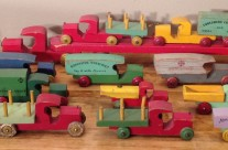 Collection of Strombecker Wooden Trucks