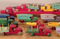 Collection of Strombecker Wooden Trucks