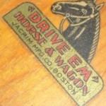 """Drive Em"" Horse & Wagon Logo"