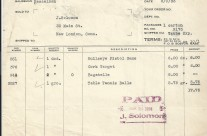 Invoice, Marks Brothers Co. Aug. 3rd 1933
