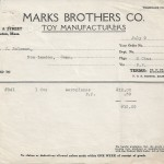 Invoice, Marks Brothers Co. July 9th 1928