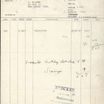Invoice, Marks Brothers Co. March 7th 1938