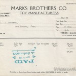 Invoice, Marks Brothers Co. May 26th 1928