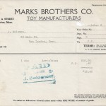 Invoice, Marks Brothers Co. Oct. 8th 1928