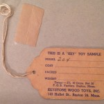 Keystone Salesman's Sample Tag for #204