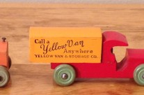 Strombecker Yellow Van & Storage Co. Truck