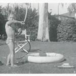 1952 Photo of Boy with Keystone Ferry-Boat