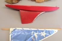 Keystone Wood Toys Sea Gull Sailboat with Blue Sail