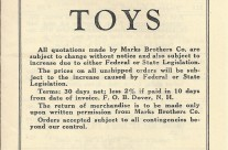 1938 Marks Brothers Co. Price List