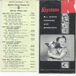 Keystone Camera Catalog 1956
