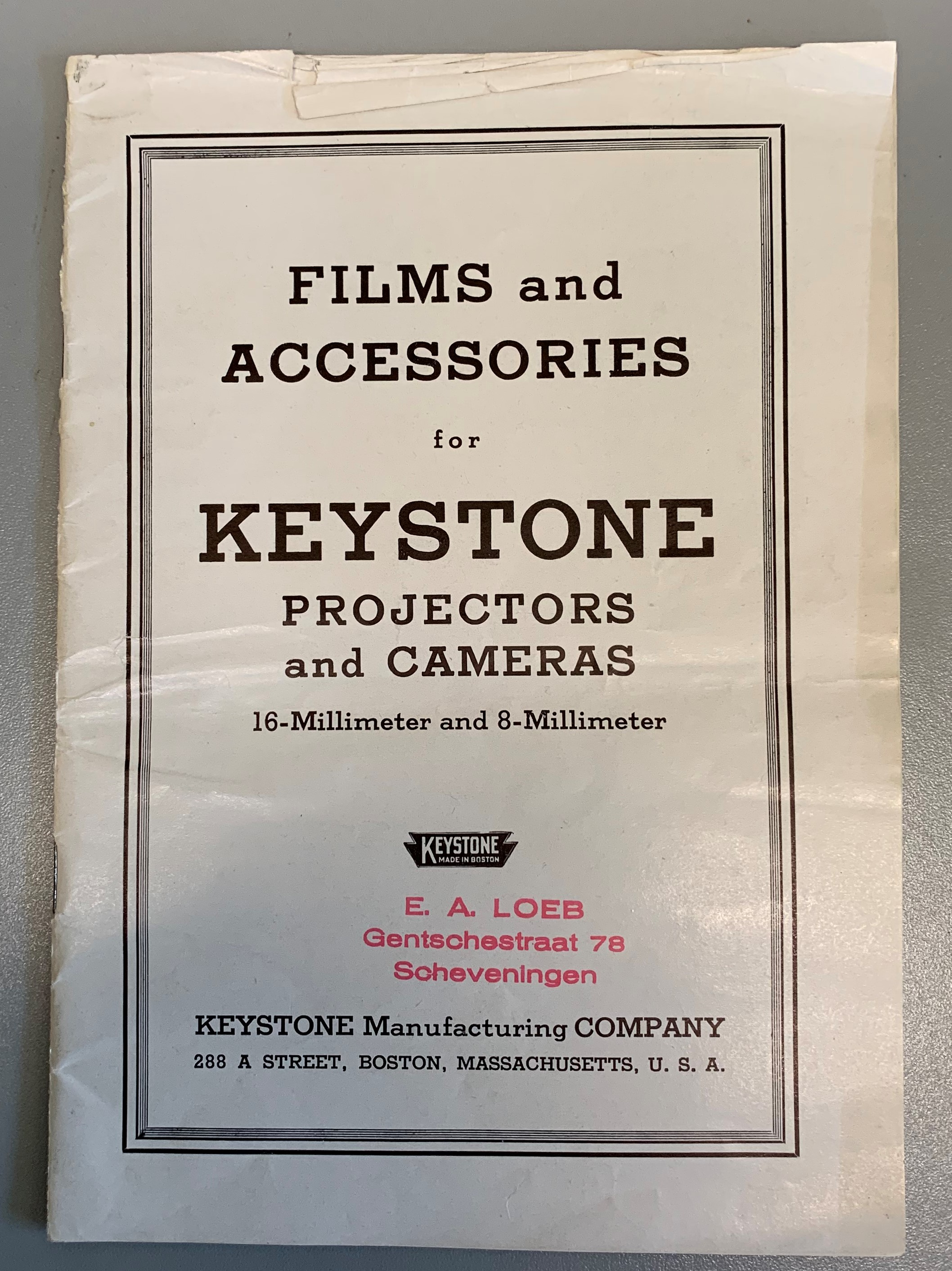 Keystone Camera Catalog, Foreign