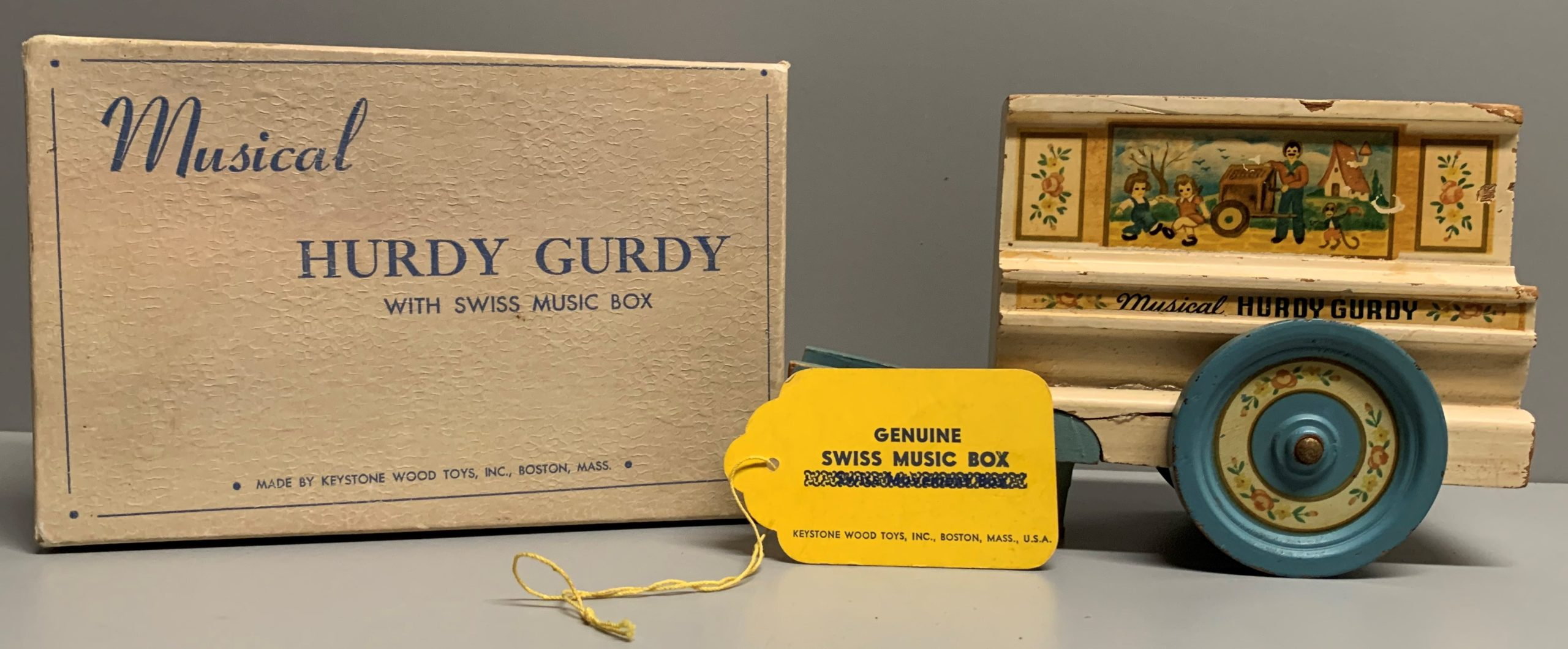 Hurdy Gurdy with Sales Sample Tag