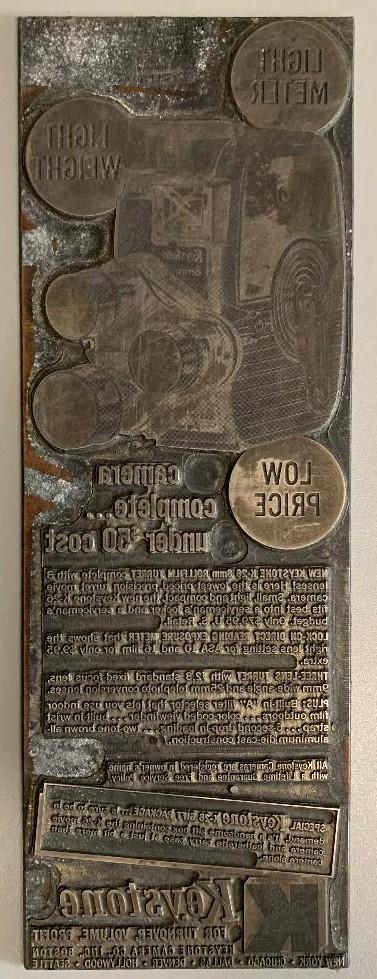 Camera Ad Printing Plate