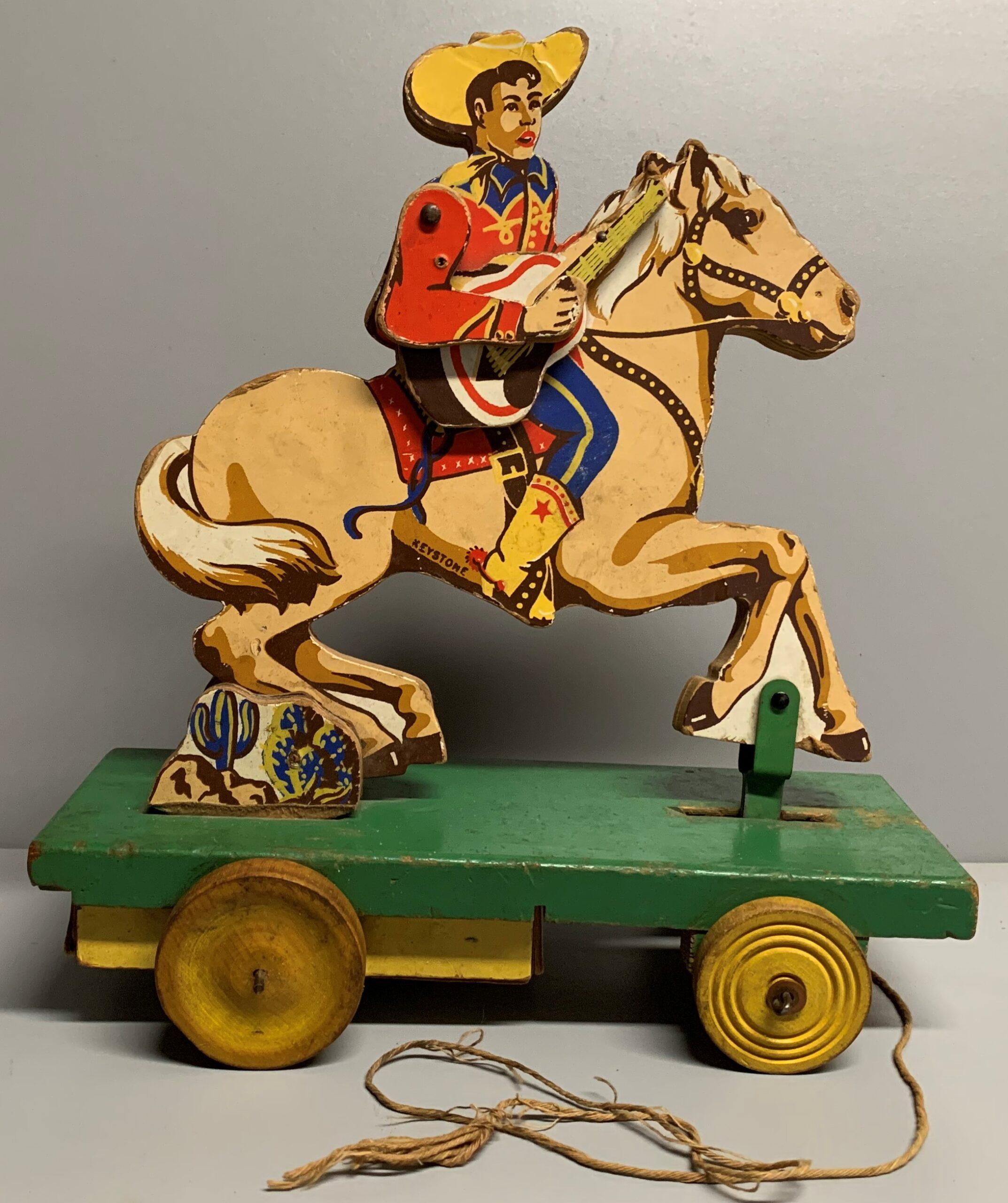 Keystone Cowboy with Guitar Pull Toy