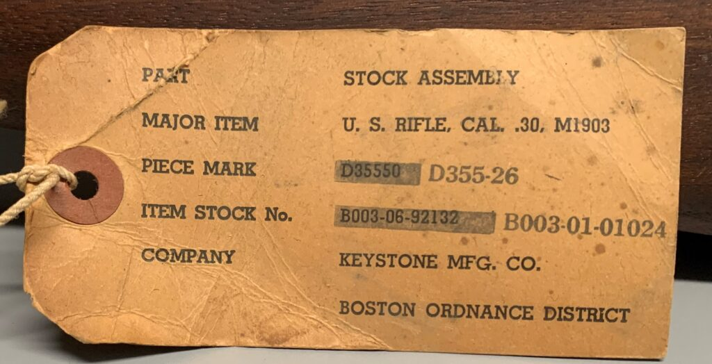 Keystone Rifle Stock Tag
